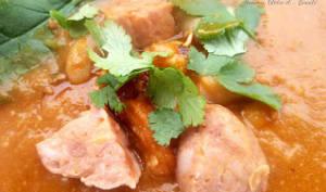 Soupe de haricots blancs à la saucisse de Morteau