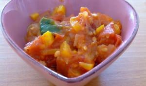 Sauce tomates poivrons épinards, sans matière grasse