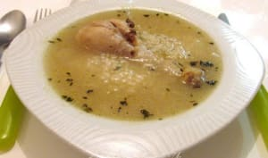 Soupe de riz au poulet