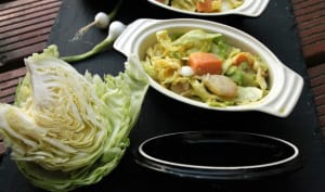 Duo de poisson coco curry et chou croquant
