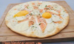 Pizza blanche au saumon