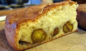 Gâteau moelleux incrusté de mirabelles
