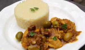Poulet aux olives vertes et tomates séchées