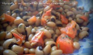 Haricots à œil noir et ses tomates pimentées