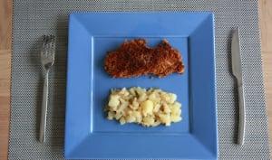Filet de poulet en croûte de pain d'épices et poêlée automnale