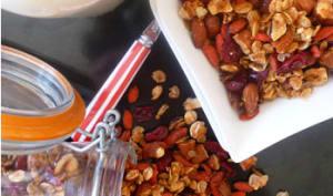 Granola aux cranberries
