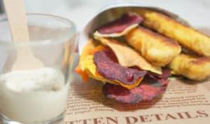 Bâtonnets de dinde et chips de légumes