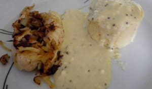 Poulet sauce moutarde au kiri