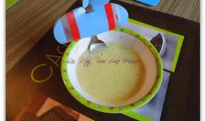 Soupe de courgette au fromage fondu
