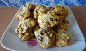 Cookies poire et chocolat au lait