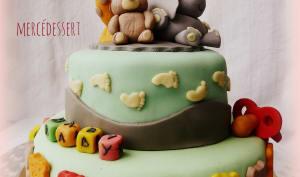 Shower baby cake