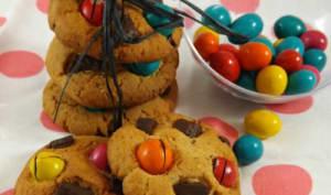 cookies m&m's chocolat noir beurre de cacahuètes