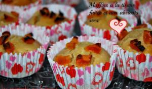Muffins à la tisane fruitée et aux abricots secs