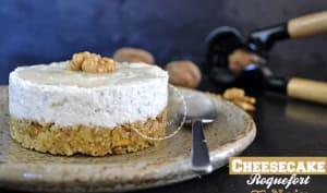 Cheesecake au roquefort et noix