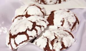 Crinkles - biscuits craquelés, moelleux au chocolat