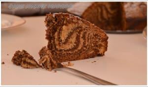 Quatre-quarts marbré chocolat à la farine d'avoine, selon Nathalie Beauvais