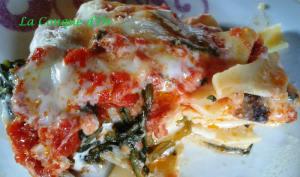 Gratin de paccheri aux épinards-mozzarella, sauce tomate