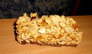 Barres de céréales aux écorces d'orange et noisette