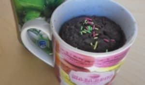 Mug cake chocolat menthe