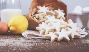 Etoiles aux amandes et zestes de citron