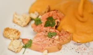Escalope de foie gras et velouté de potiron