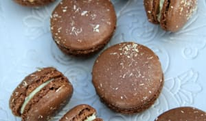 Macarons coco et chocolat