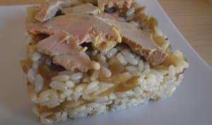 Risotto au foie gras et compotée d'oignons
