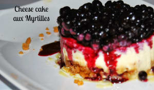 Cheese cake aux myrtilles