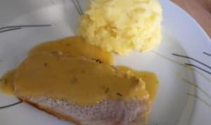 Rôti de porc à la bière, miel et moutarde