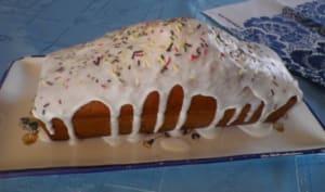 Cake à l'orange, rhum et gingembre confit