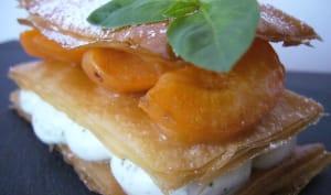 Mille feuille abricot et basilic