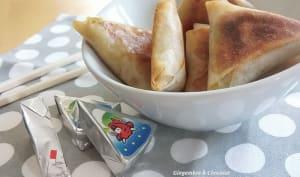Samossas au jambon et fondue de poireaux
