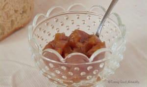 Confiture de poires à l'eau de rose