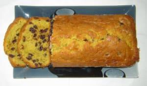 Cake pistache et pépites de chocolat