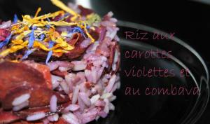 Riz aux carottes violettes et au combava