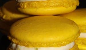 Macarons ganache montée aux deux citrons