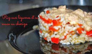Riz aux légumes et sa sauce au chorizo