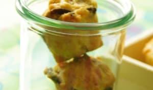 Minis muffins au safran, graines de courge et sésame