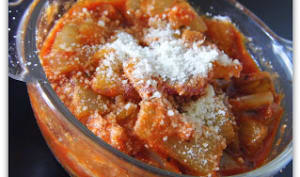 Gratin de côtes de bettes à la tomate