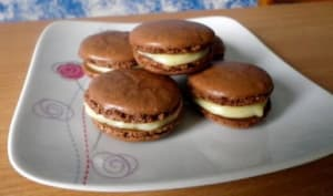 Macarons ganache chocolat blanc et fève Tonka