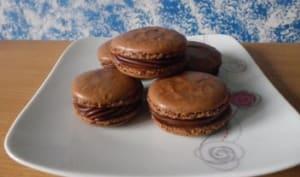 Macarons ganache chocolat et marrons