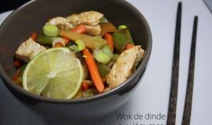 Wok de dinde aux légumes