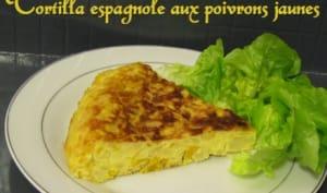 Tortilla espagnole aux poivrons jaunes
