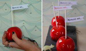 Pommes d'amour empoisonnées pour Halloween