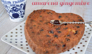 Cake cerises amarena gingembre