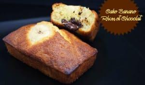 Cake bananes, rhum et chocolat