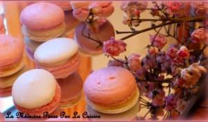 Macarons bicolores à la rose