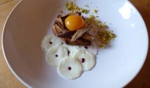 Oeufs de Poule aux Shitaké en trois cuissons