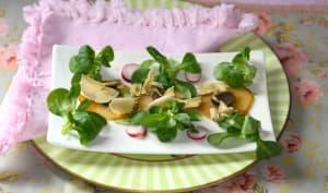 Salade de pommes de terre aux truffes et copeaux de foie gras