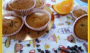 Muffins à l'orange et pépites de chocolat.
